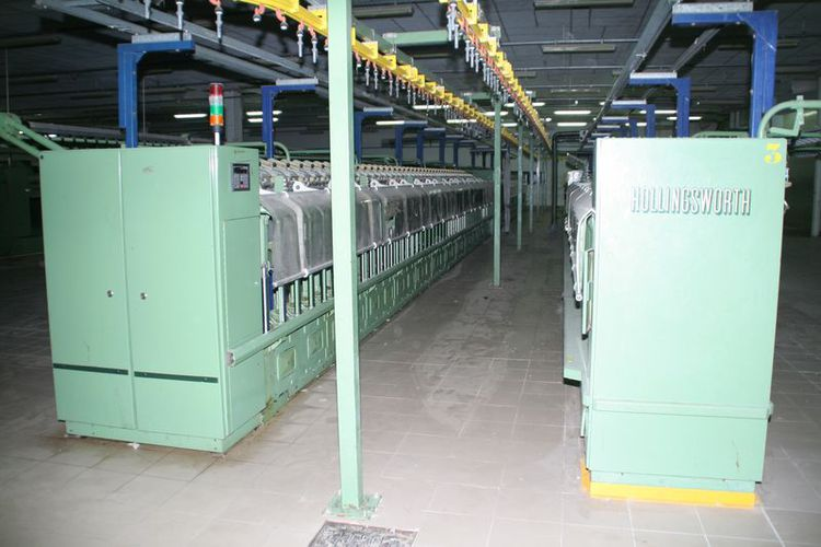 Complete, combed cotton, ring spinning mill
