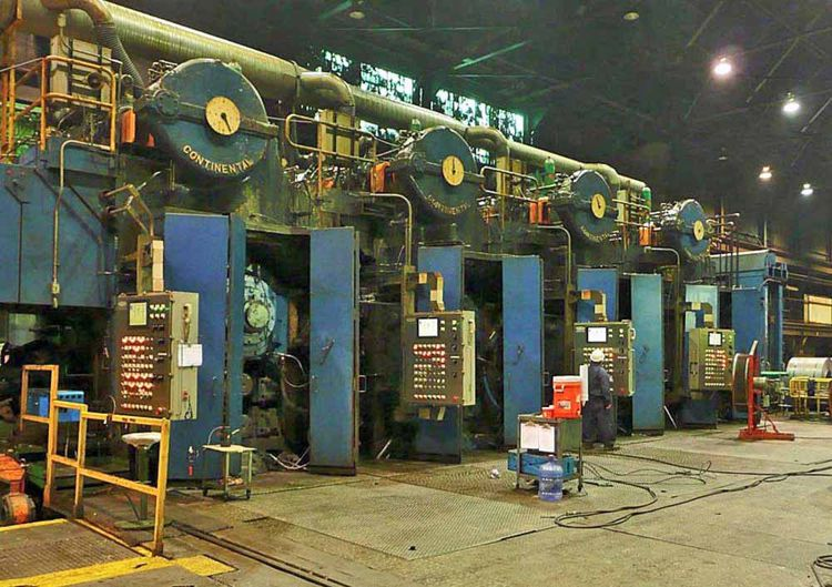 Continental 4 Hi 4 Stand Tandem Cold Rolling Mill