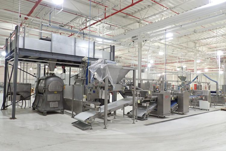 Moline raised donut line from mixing to proofing