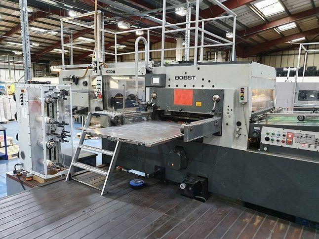 Bobst SP 126 BMA Hot Foil Stamping Press, Platen