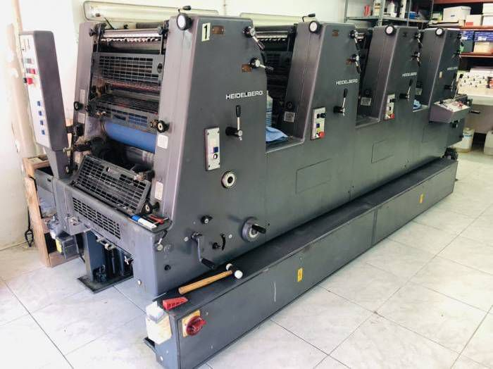 Heidelberg GTOVP 52, Sheetfed offset machine 4 52 x 36 cm