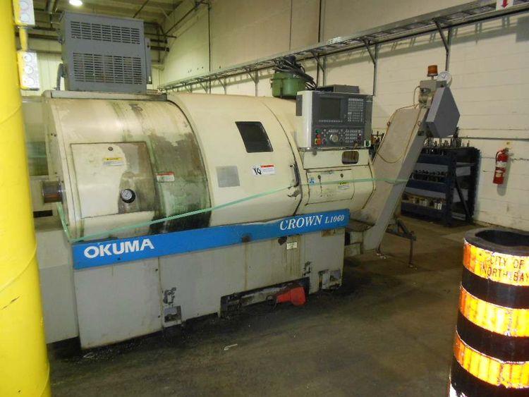 Okuma Okuma OSP 7000 CNC  Control Max. 4,200 RPM Crown L1060 2 axis CNC Lathe