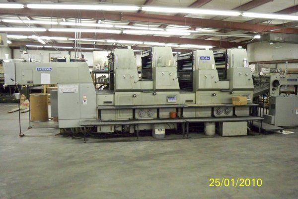 Akiyama HA-440 HI-ACE, 4 colors Offset machine 28 X 40 Inches