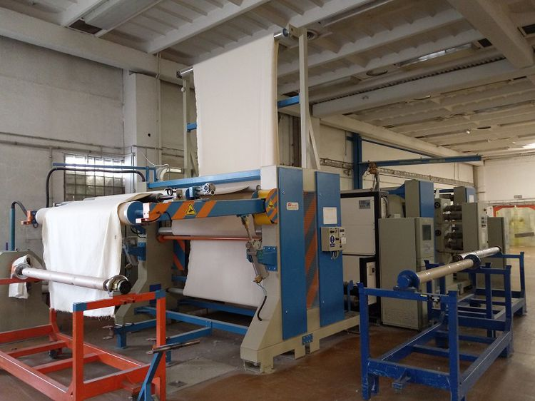 La meccanica Automatic grey fabric preparation and inspection