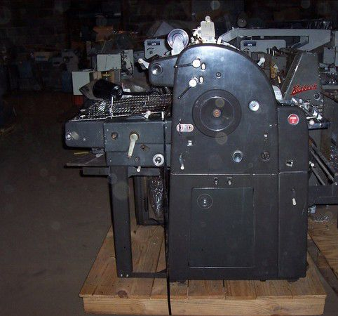 "AB Dick 385, 1 color Offset machine 17"" X 22"""