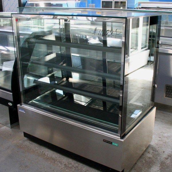 Anvil Four Tier Square Glass Cake Display Fridge