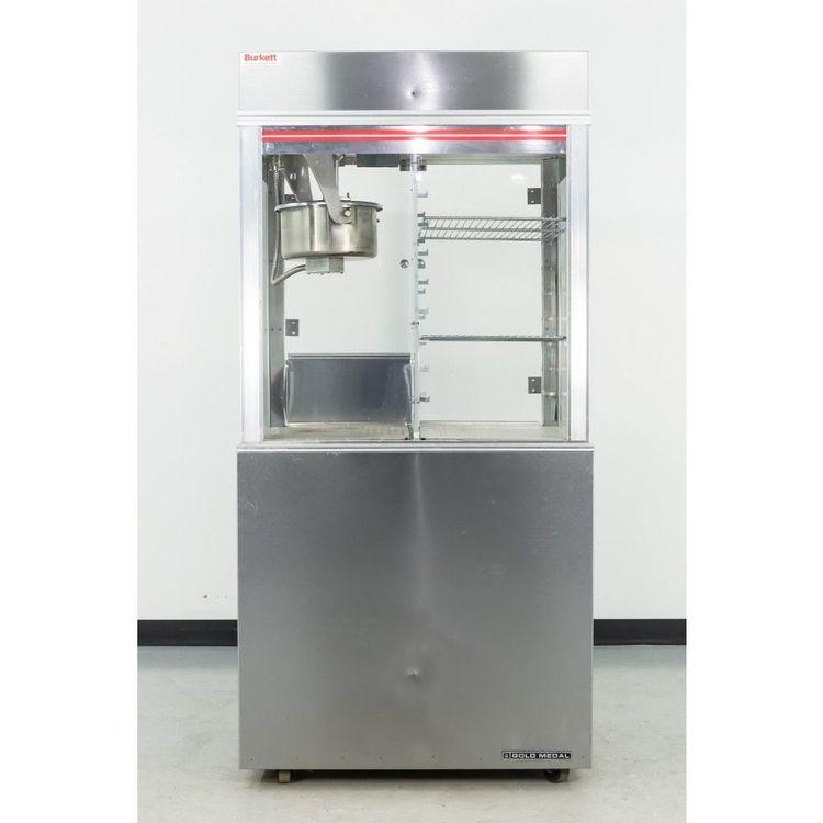Gold Medal 1618ETS Popcorn Machine & Display Warmer w/Cabinet