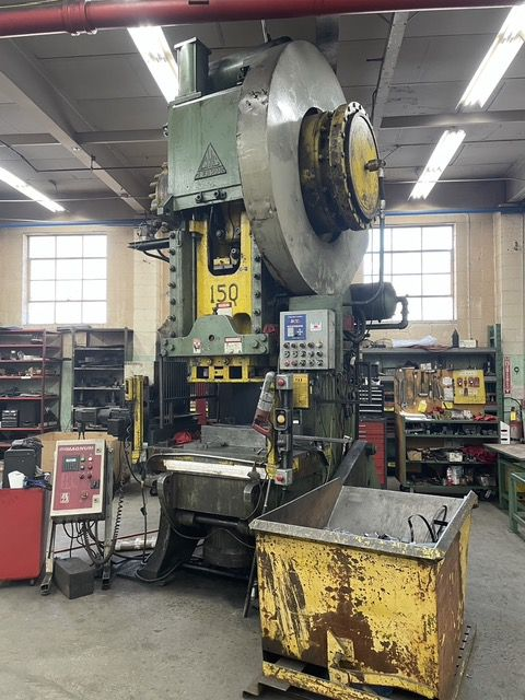 Clearing Single Point OBI Back Geared Press 150 Ton