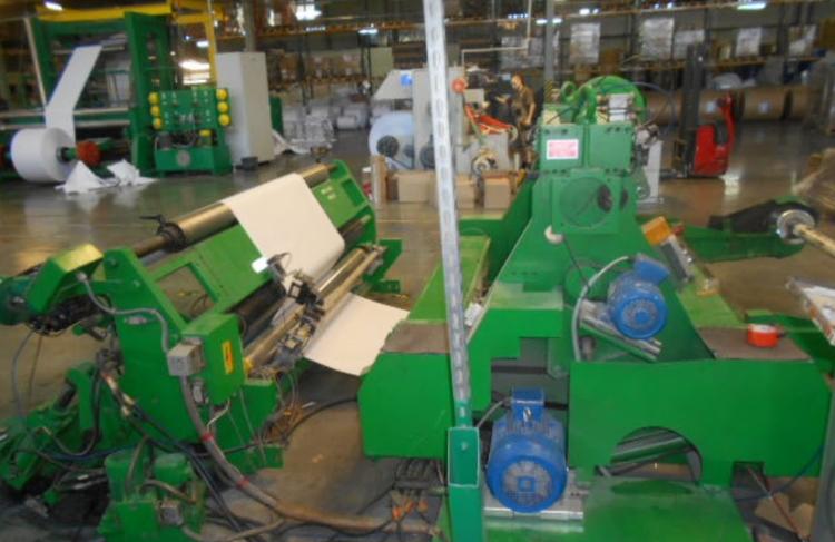 Offina Meccanica del Maglio 1350 mm Mod. AZ3  SLITTER REWINDER