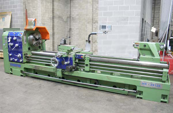 "Kingston MANUAL ENGINE LATHE 670 rpm 29"" x 120""  with 6"" BORE HB29"