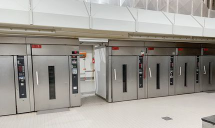 Werner & Pfleiderer RC 1280 rack oven plant with 10 rackovens