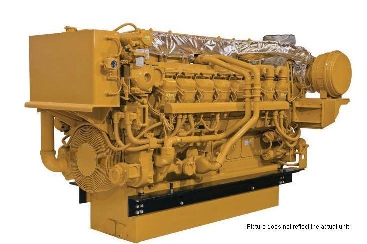 2 Caterpillar 3516C-HD Diesel Marine Engine