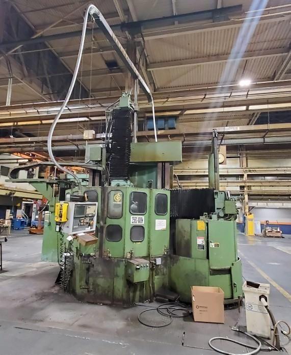 "Giddings & Lewis 513 60"" CNC Vertical Boring Mill"