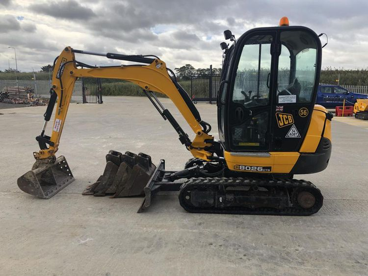 6 JCB 8026 CTS Excavator