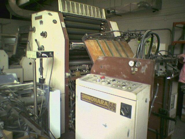Shinohara 66, 1 color Offset machine 48 Cm X 66 Cm