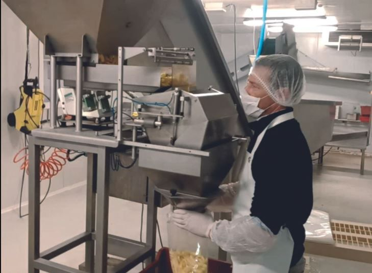 Fresh French Fries Production Line 1000kg / h