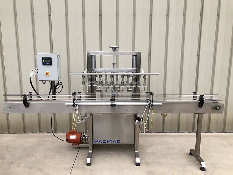PacMac  PGF-12 12-Valve Automatic Inline Bottle Filler
