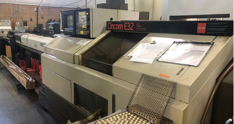 Citizen CNC Controls Variable E32 SWISS TYPE TWIN TURRET LATHE 2 Axis