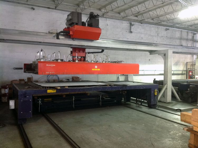 Bystronic 4400-Watt BySpeed 4020 laser cutting system with ByTrans 4020 load and unload system cnc control