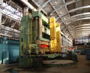 Kolomna 1565 double column vertical lathe