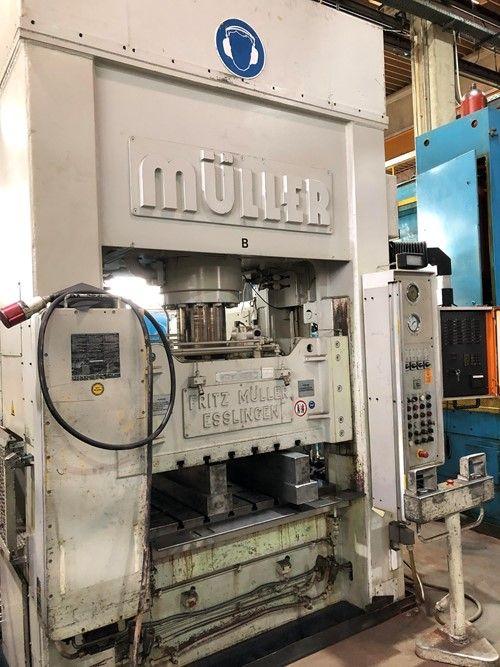 Fritz, Muller Fritz Müller KEZ 250-13 5 / 5 1 1 Double Column Hydraulic Press 250 Ton