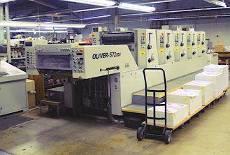 Sakurai 572 ED II, 5 colors Offset machine 52 X 72 Cm