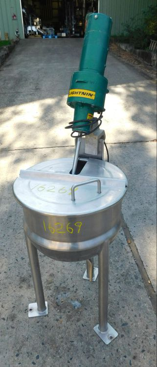 Lee 10 d top jacketed kettle