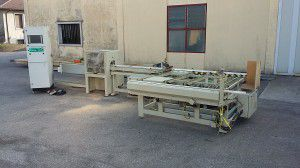 AMS AUTOMAZIONI Automatic line for slats/frames cutting