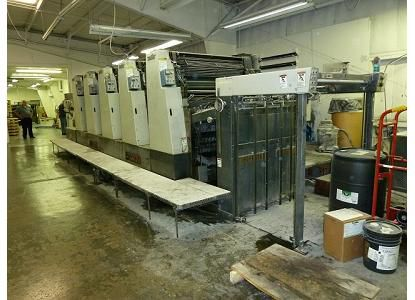 Miller TP104-5, 5 Colors Offset Machine