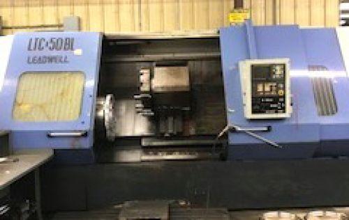 Leadwell FANUC O-T CNC CONTROL 1500 rpm LTC-50 BL CNC LATHE 2 Axis
