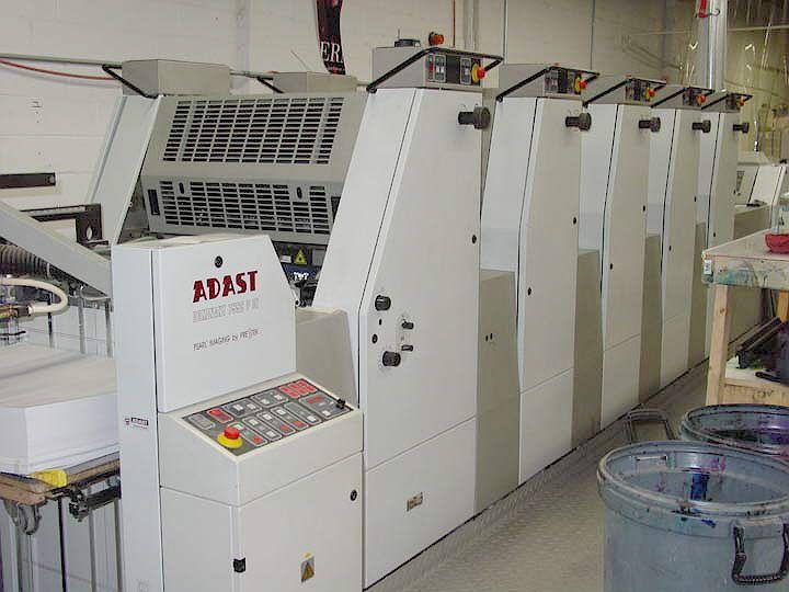 Adast 755CP DI, 5 colors Offset machine 19 X 26