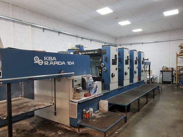 KBA Rapida RA104-4 720 x 1040 mm