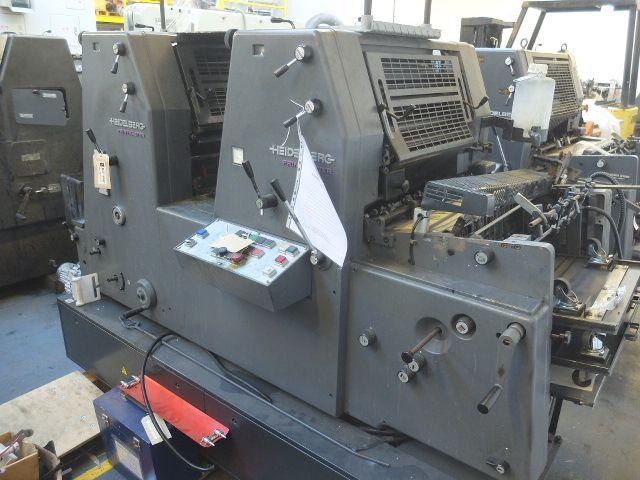 Heidelberg PM GTO 52 2P + Version Two Colour Press 360x520
