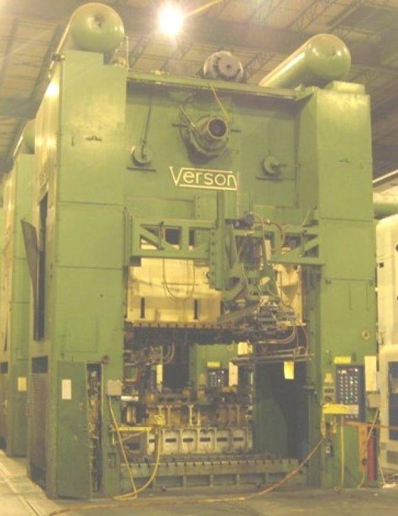 """7 Danly, Verson 7 PRESSES, 1-1300T, 1-800T, 5-300T, 120""""X72""""BA, 77""""SH 1300 Ton"""