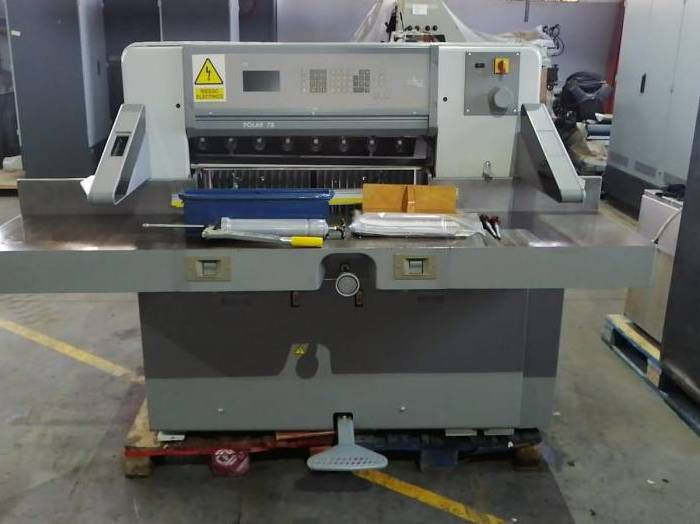 Polar 78 ES, Paper guillotine machine