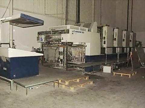 Komori L-450, Offset 4 Colours Press Machine 96.5 x 130 cm