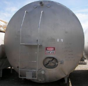 Mueller 6,500 Gallon Horizontal Coldwall Jacketed Tank Horizontal Coldwall Tank 6,500 Gallon