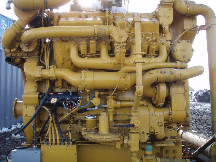 Caterpillar G379ta Natural Gas Engine 350 Kva
