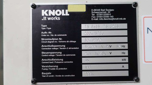 Knoll TS8685/TS8285 Coolant System