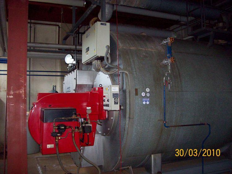 Loos UL  power 10 T steam/h, steam working pressur 10 bar heating gas/oil