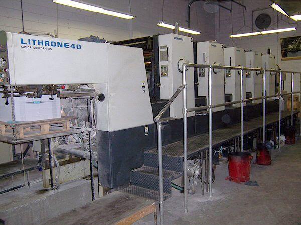 Komori L540, 5 colors Offset machine 72 X 102 Cm