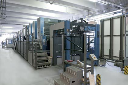 Business unit for production of  cardboard boxes, packages, counter-top packs and displays with high definition flexographic and offset printing