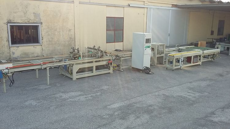 AMS AUTOMAZIONI Automatic line for shutters slats cutting and heads rounding