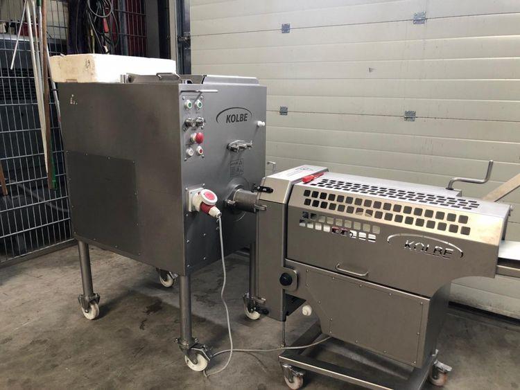 Kolbe MWK80 meat grinder and portioning line