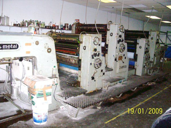 Color Metal CHAMPION 438, 4 colors Offset machine 31.5 X 38.5 Inches