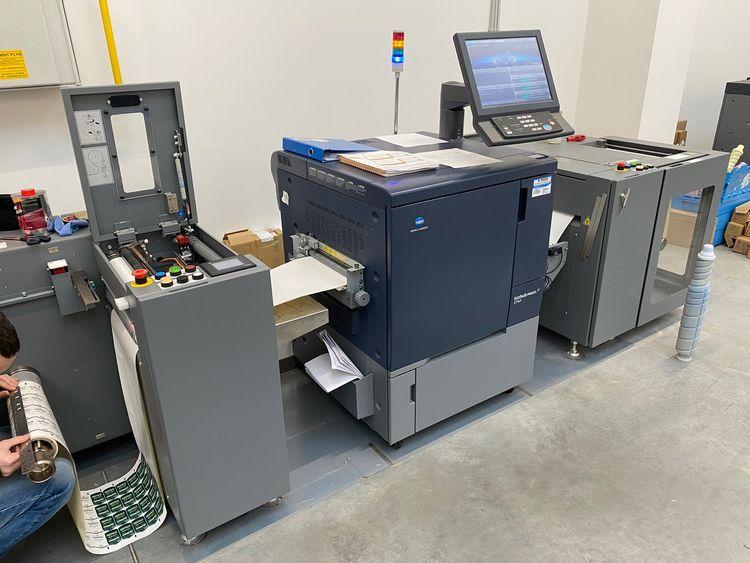 Konica Bizhub C71cf digital label printer