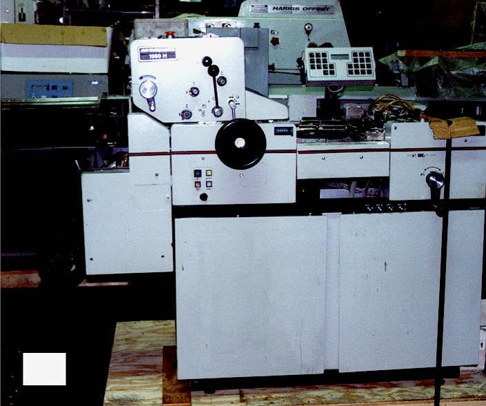 AM Multigraphics 1960H, 1 color Offset machine