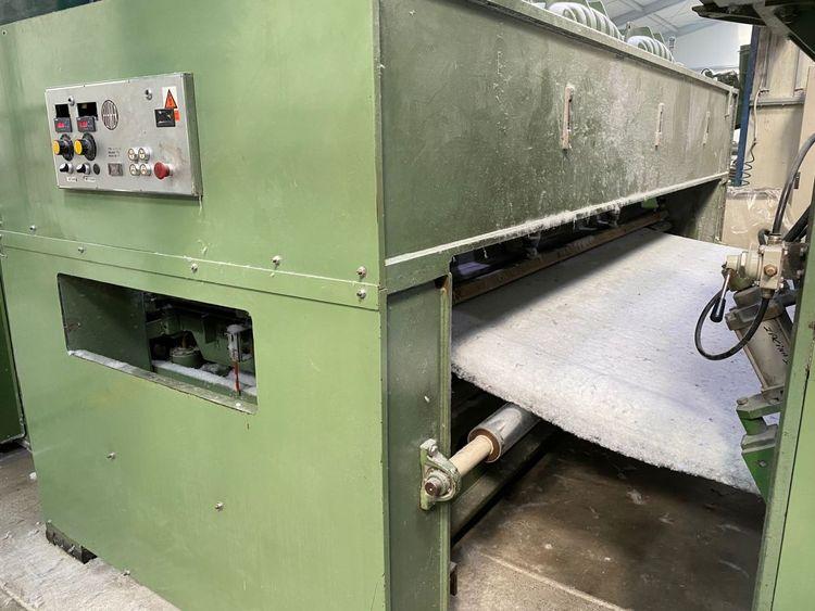 Fehrer NL 21 finishing needle loom, yoc: 1982 – refurbished in 2016, ww: 3.3 m, double board downstroke, stroke: 40 mm, 9 600 needles/m, 1 200 rpm