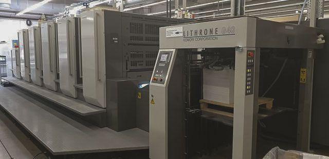 Komori GL540+CX H-UV 28 x 40 inch