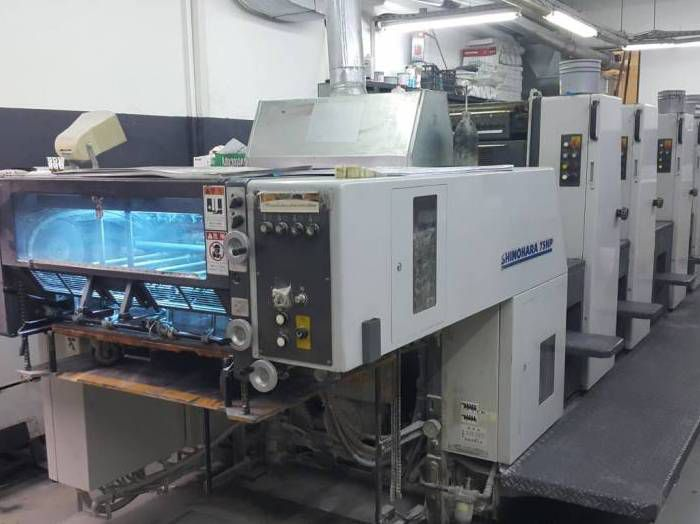 Shinohara 75 IVHP, Sheetfed offset machine 4 75 x 58 cm